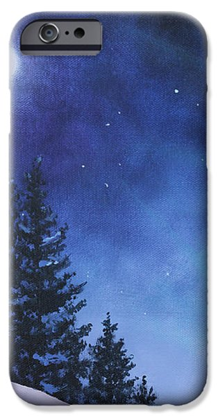 Aurora Borealis Winter iPhone Case by Cecilia  Brendel