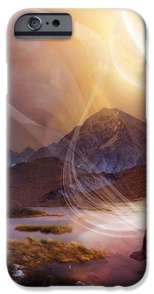 Northern Lights iPhone Cases - Aurora iPhone Case by Karen K