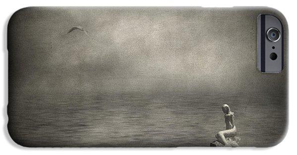 Poetic iPhone Cases - Ausencia presencia y una sirena iPhone Case by Taylan Soyturk