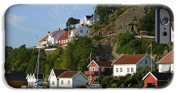 Norway iPhone Cases - Aust Agder Coastal Houses iPhone Case by Nina Fosdick