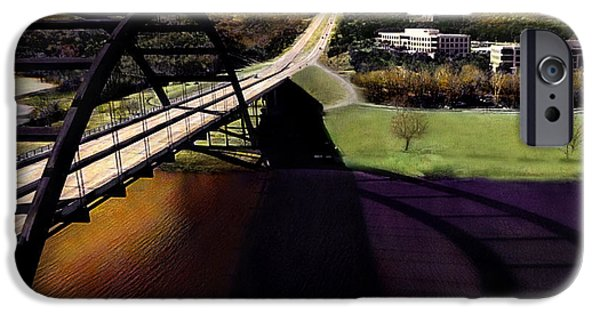 Ledge iPhone Cases - Austin 360 Bridge iPhone Case by Marilyn Hunt