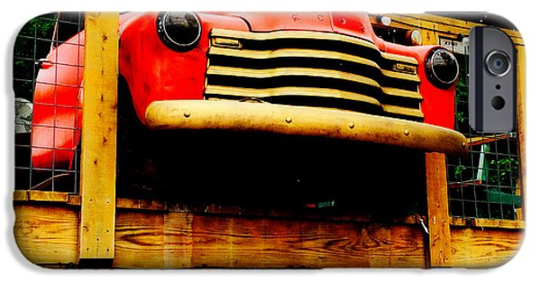 Machinery iPhone Cases - Austin Texas - Marias Taco Express - Luther Fine Art iPhone Case by Luther   Fine Art