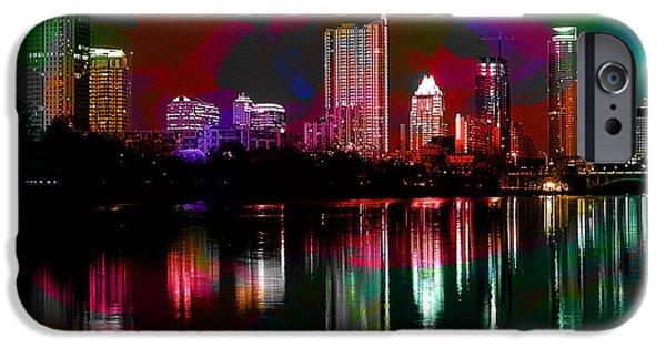 Austin iPhone Cases - Austin Texas Skyline iPhone Case by Marvin Blaine