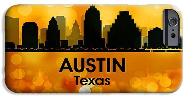 Concrete Jungle iPhone Cases - Austin TX 3 iPhone Case by Angelina Vick