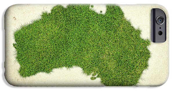 Waste Water iPhone Cases - Australia Grass Map iPhone Case by Aged Pixel