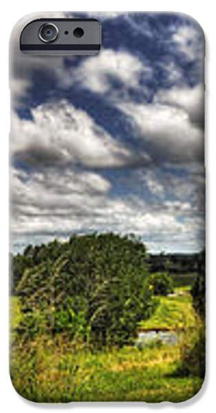 Australian Countryside - Floating Clouds Collage iPhone Case by Kaye Menner