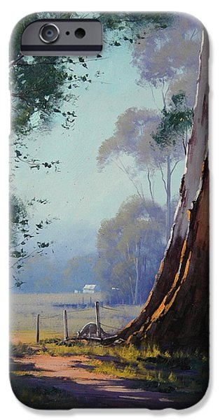 Shed iPhone Cases - Australian Farm Painting iPhone Case by Graham Gercken