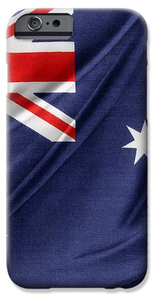 Australian flag iPhone Case by Les Cunliffe