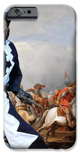 Australian Kelpie Canvas Print - A cavalry engagement during the Thirty Years War iPhone Case by Sandra Sij