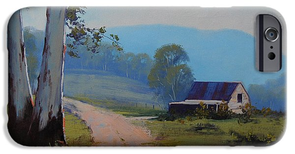 Shed iPhone Cases - AUSTRALIAN LANDSCAPE Lithgow  iPhone Case by Graham Gercken