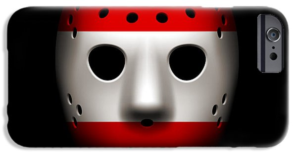 Austria iPhone Cases - Austria Goalie Mask iPhone Case by Joe Hamilton