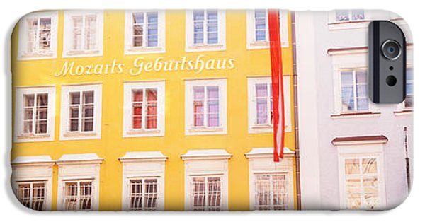 Salzburg iPhone Cases - Austria, Salzburg, Mozarts Birthplace iPhone Case by Panoramic Images