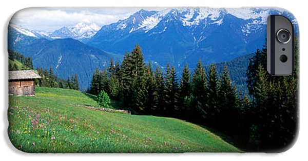 Mountain iPhone Cases - Austria, Zillertaler, Cabin iPhone Case by Panoramic Images