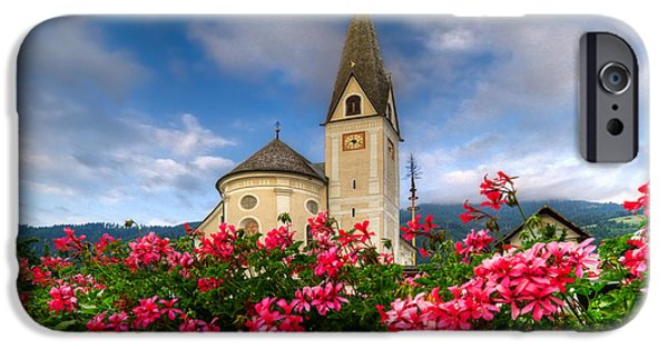 Cemetary iPhone Cases - Austrian Church iPhone Case by Debra and Dave Vanderlaan