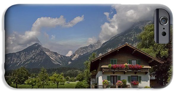 Austria iPhone Cases - Austrian Cottage iPhone Case by Debra and Dave Vanderlaan