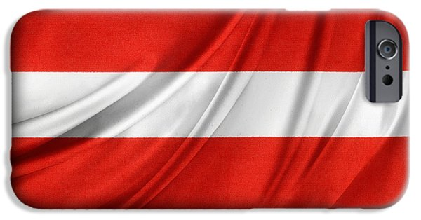 Flag iPhone Cases - Austrian flag  iPhone Case by Les Cunliffe