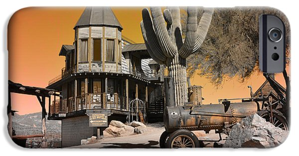 Haunted House iPhone Cases - Authentic Ghost Town iPhone Case by Beverly Guilliams