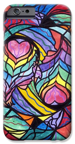 Healing Paintings iPhone Cases - Authentic Relationship iPhone Case by Teal Eye  Print Store