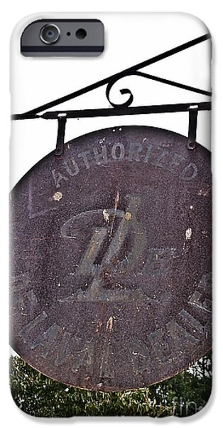I Am Not iPhone Cases - Authorized Dealer Faded Old Sign iPhone Case by JW Hanley