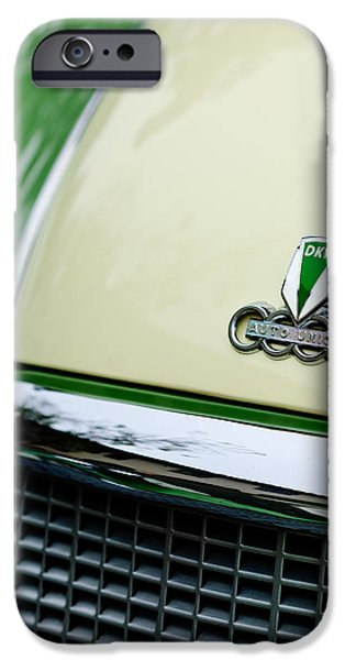 Auto Union DKW Hood Emblem iPhone Case by Jill Reger