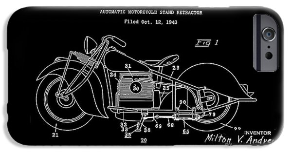 Drawing Of The Factory iPhone Cases - Automate Motorcycle Stand Retractor.White iPhone Case by Brian Lambert
