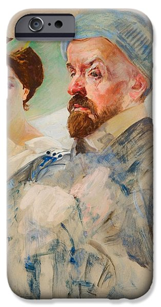 Women Together iPhone Cases - Autoportent iPhone Case by Jacek Malczewski