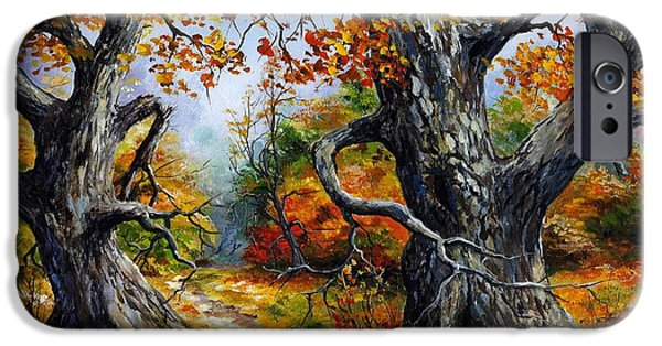 Autumn iPhone Cases - Autumn 06 iPhone Case by Emerico Imre Toth