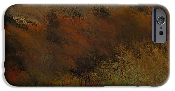 Colors Of Autumn iPhone Cases - Autumn Abstract iPhone Case by Dan Sproul