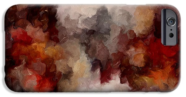 Abstract Expressionism iPhone Cases - Autumn Abstract iPhone Case by Georgiana Romanovna