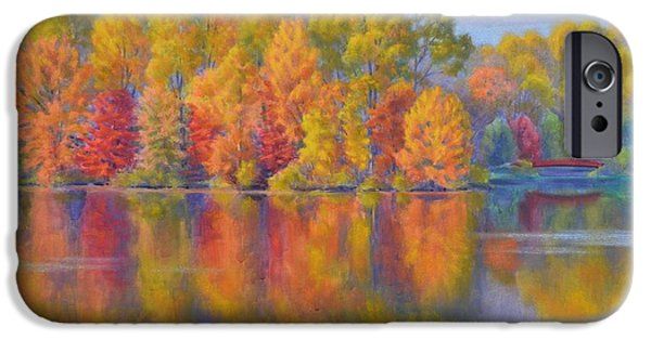 Autumn Landscape Pastels iPhone Cases - Autumn Afternoon 1 iPhone Case by Fiona Craig