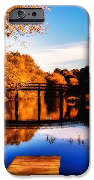 Concord Massachusetts iPhone Cases - Autumn afternoon wears on iPhone Case by Jeff Folger