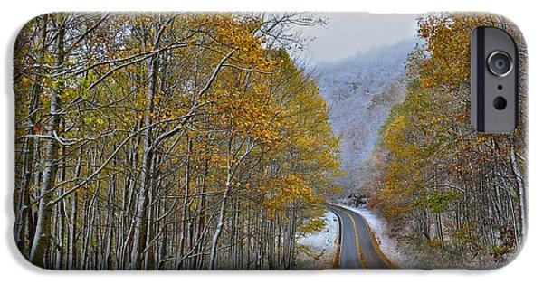 Susan Leggett iPhone Cases - Autumn and Winter iPhone Case by Susan Leggett