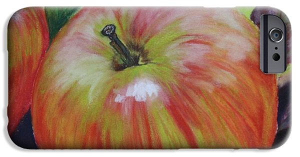 Food And Beverage Pastels iPhone Cases - Autumn Apples iPhone Case by Linda Eversole