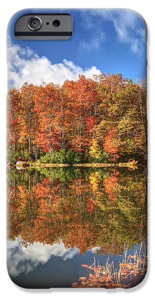 Autumn at Boley Lake iPhone Case by Jaki Miller