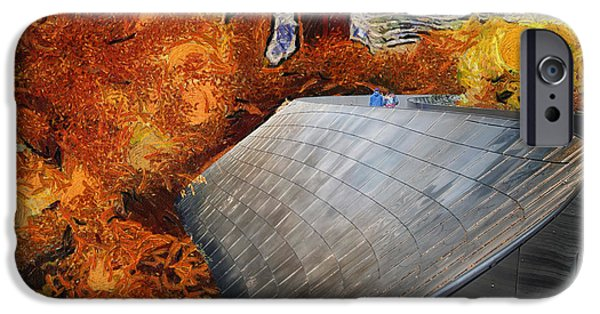 Willis Tower iPhone Cases - Autumn At Chicago Millennium Park BP Bridge Mixed Media Abstract iPhone Case by Thomas Woolworth