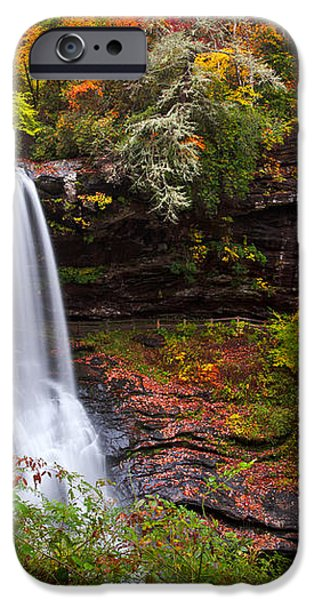 Autumn at Dry Falls - Highlands NC Waterfalls iPhone Case by Dave Allen