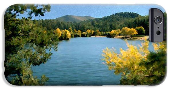 Prescott iPhone Cases - Autumn at Lynx Lake iPhone Case by Kurt Van Wagner