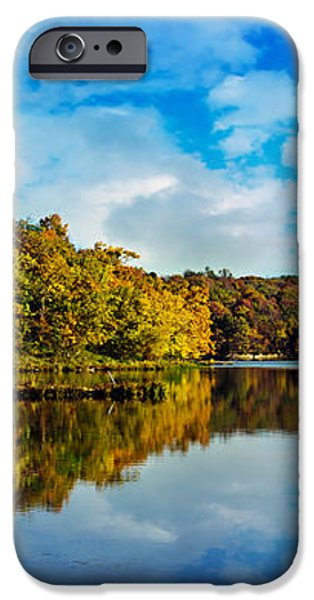 Autumn At Sailboat Cove iPhone Case by Andee Design