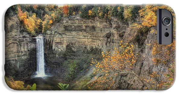 Taughannock Falls iPhone Cases - Autumn at Taughannock Falls iPhone Case by Lori Deiter