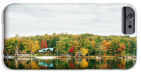 Lake House iPhone Cases - Autumn at the Lake - Pocono Mountains iPhone Case by Vivienne Gucwa