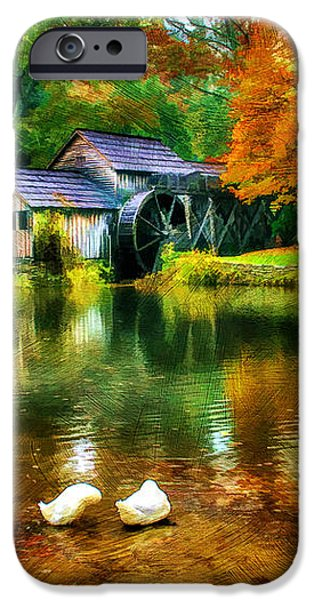 Autumn at the Mill iPhone Case by Darren Fisher