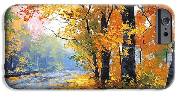 Fiery iPhone Cases - Autumn Backlight iPhone Case by Graham Gercken