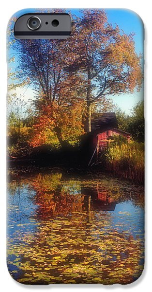 Autumn Barn iPhone Case by Joann Vitali