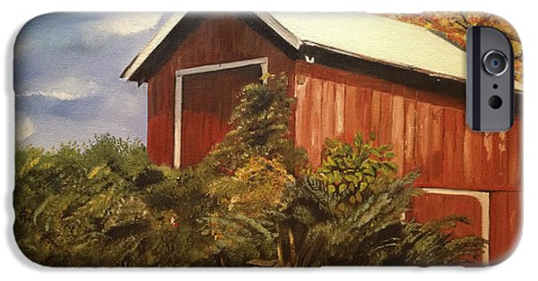 Autumn iPhone Cases - Autumn - Barn - Ohio iPhone Case by Jan Dappen