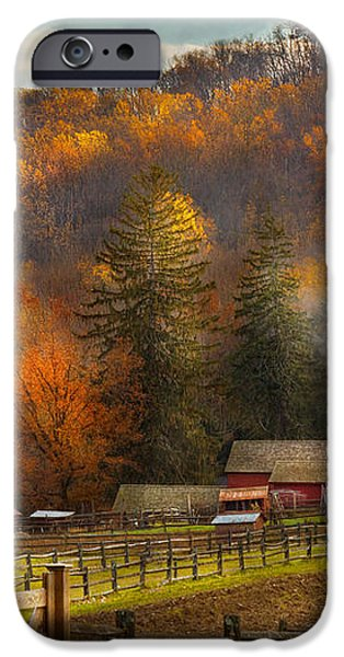 Autumn - Barn - The end of a season iPhone Case by Mike Savad
