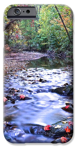 Overhang iPhone Cases - Autumn Begins iPhone Case by Frozen in Time Fine Art Photography