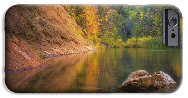 West Fork Photographs iPhone Cases - Autumn Bliss iPhone Case by Peter Coskun