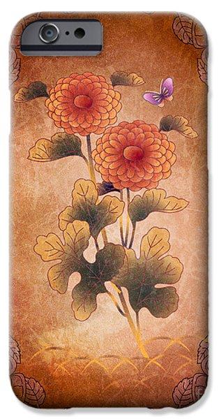 Autumn Blooming Mum iPhone Case by Bedros Awak