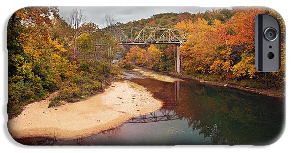 Beautiful Autumn Day iPhone Cases - Autumn Bridge iPhone Case by Brandon Alms