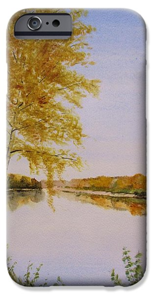 Norway iPhone Cases - Autumn By The River iPhone Case by Martin Howard
